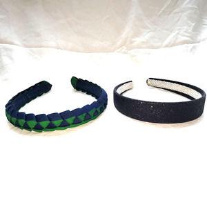Headband Girls Blue Green Black Sparkle
